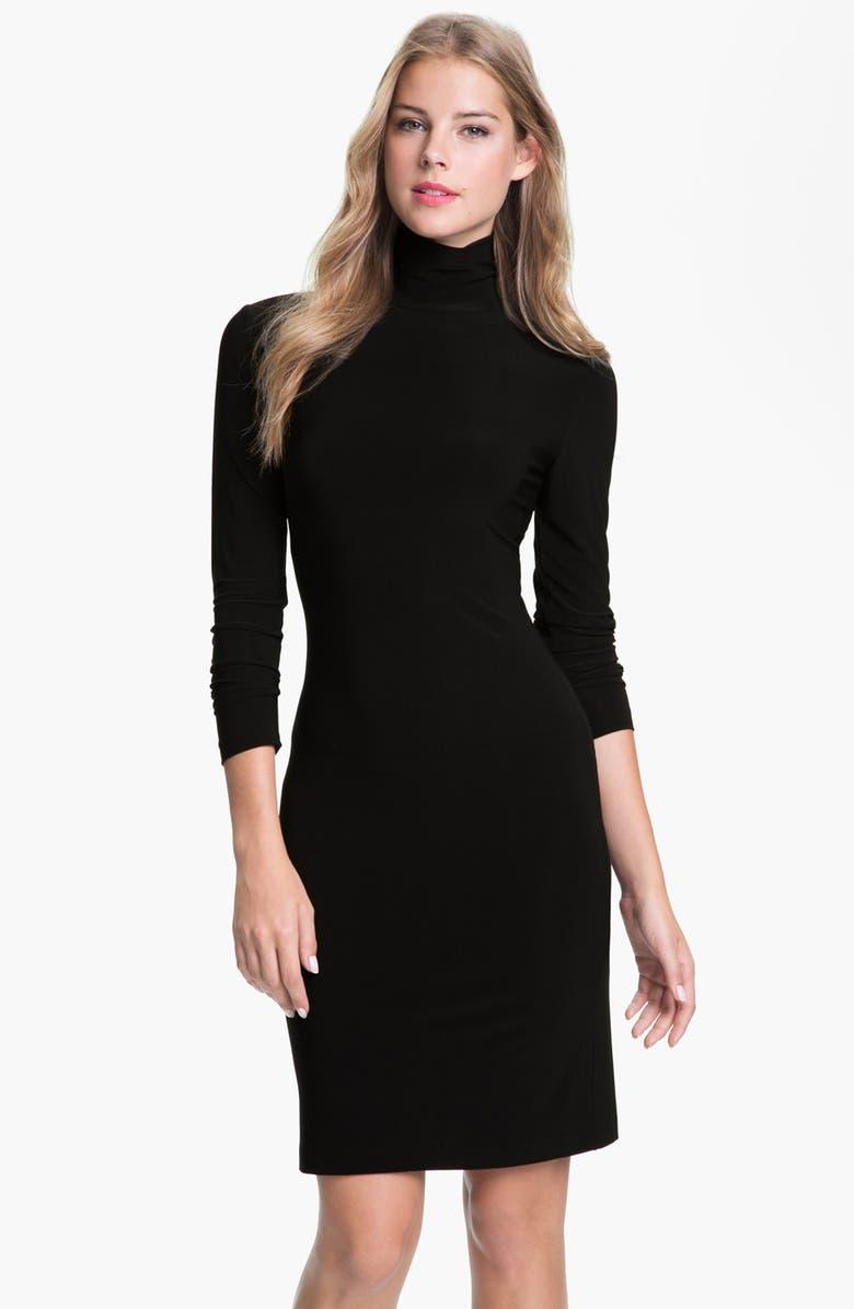 KAMALIKULTURE Turtleneck Dress, Main, color, 001