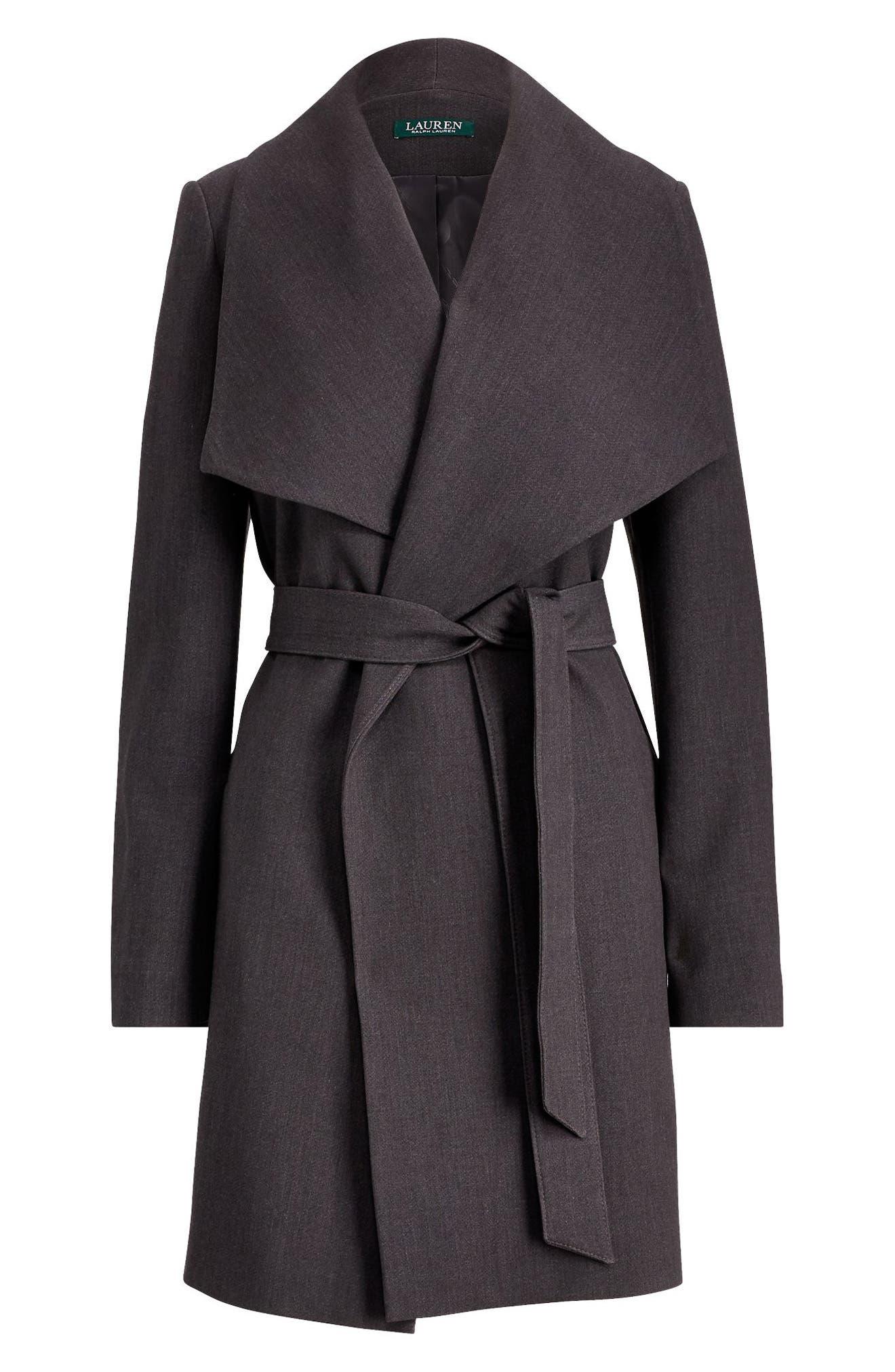 ,                             Belted Drape Front Coat,                             Alternate thumbnail 20, color,                             034