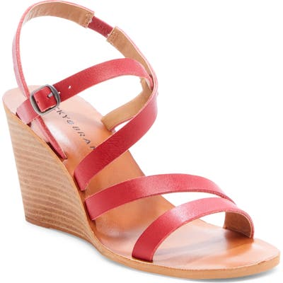 Lucky Brand Noemia Wedge Sandal- Red