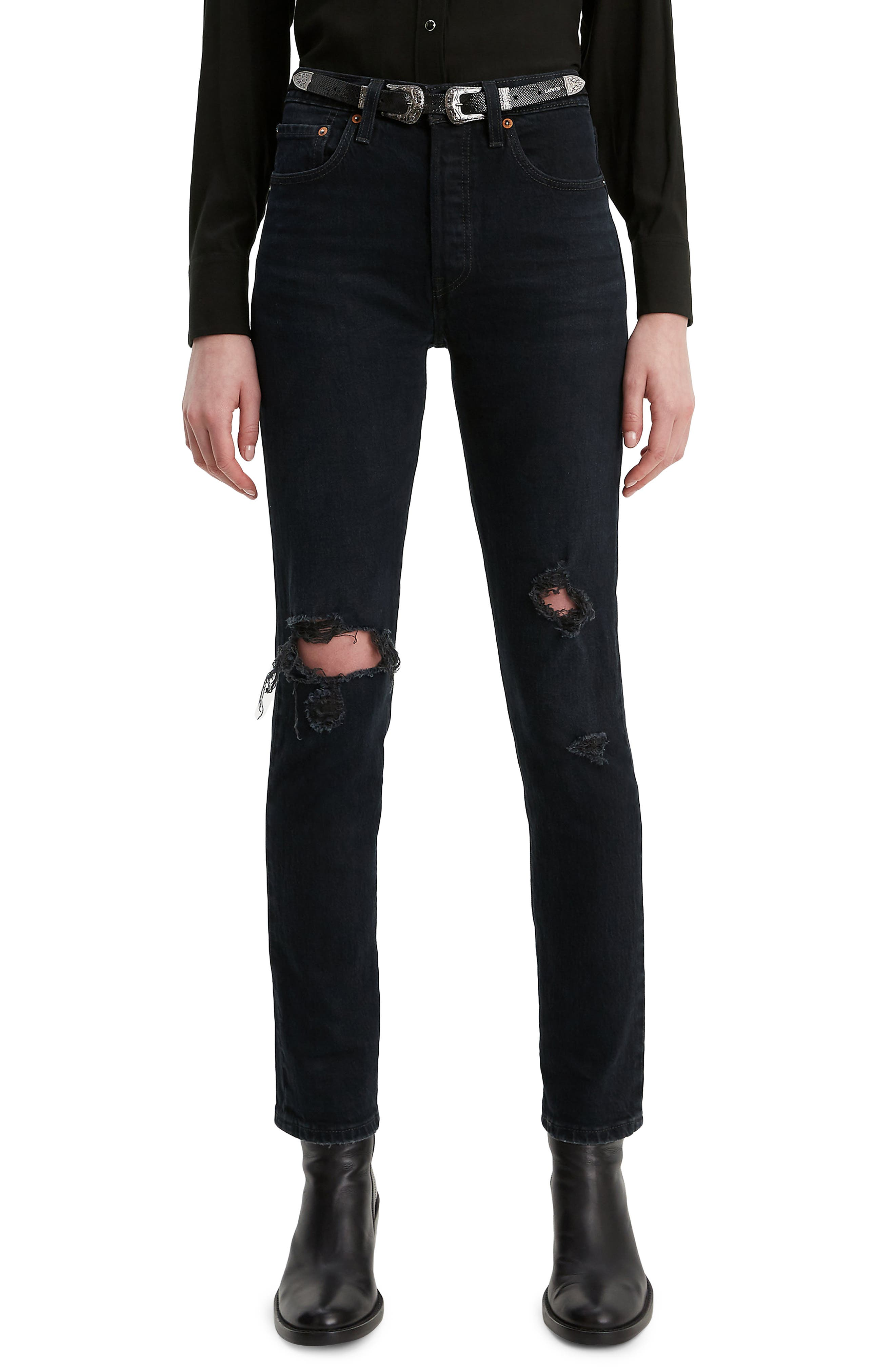 501® Ripped High Waist Ankle Skinny Jeans by Levi's