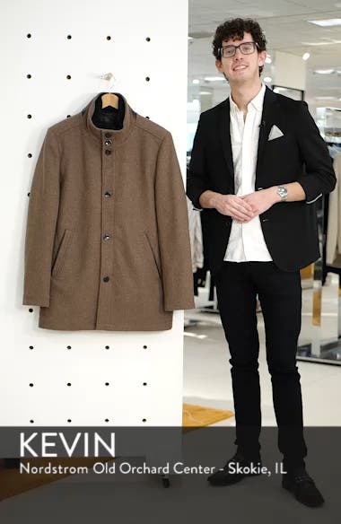 Classic Wool Blend Car Coat with Inset Bib, sales video thumbnail