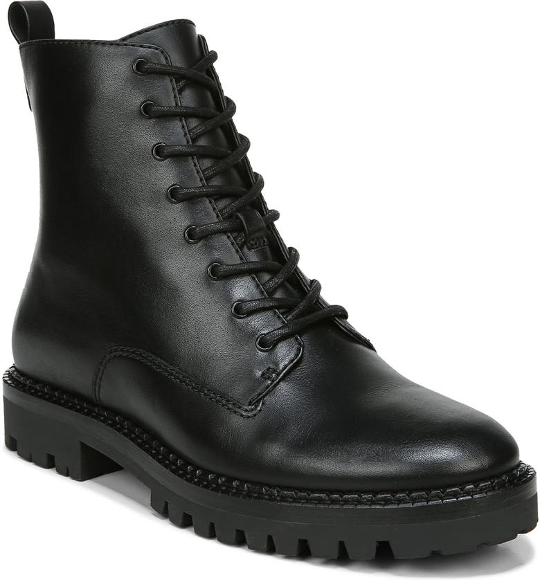 VINCE Cabria Lug Water Resistant Lace-Up Boot, Main, color, BLACK
