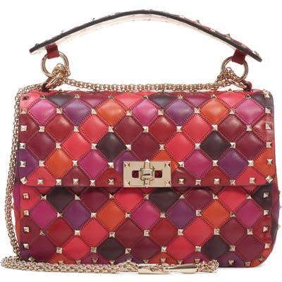 Valentino Garavani Medium Spike. it Leather Shoulder Bag - Red
