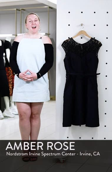 Lace Neck Brocade Dress, sales video thumbnail