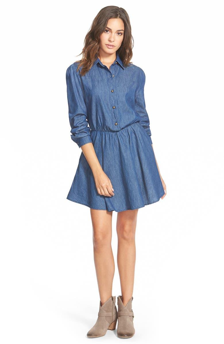 MIMI CHICA Shirtdress, Main, color, 400