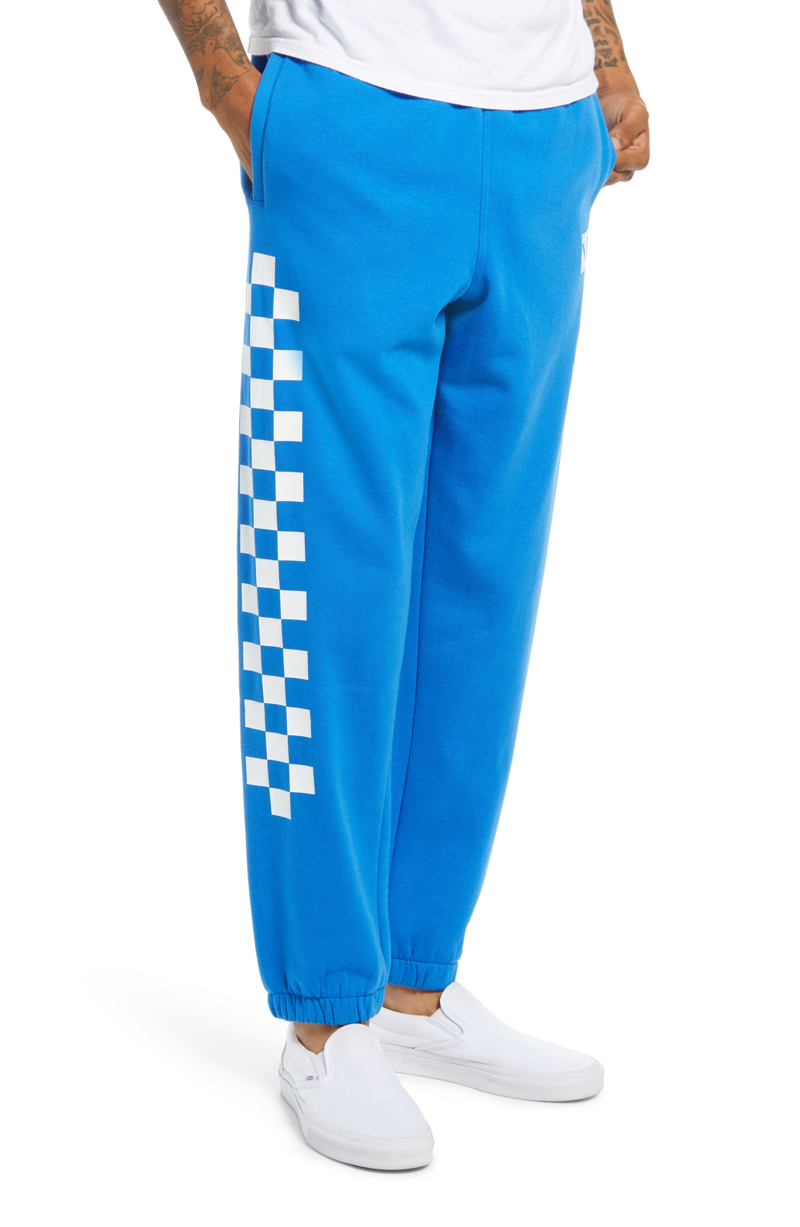 A racer-inspired design finishes this pair of fleece knit joggers, made for relaxed weekends. Style Name: Vans Men\\\'S Dimension Off The Wall Joggers. Style Number: 6122645. Available in stores.
