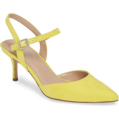 Charles By Charles David Ankle Strap Pump- Yellow