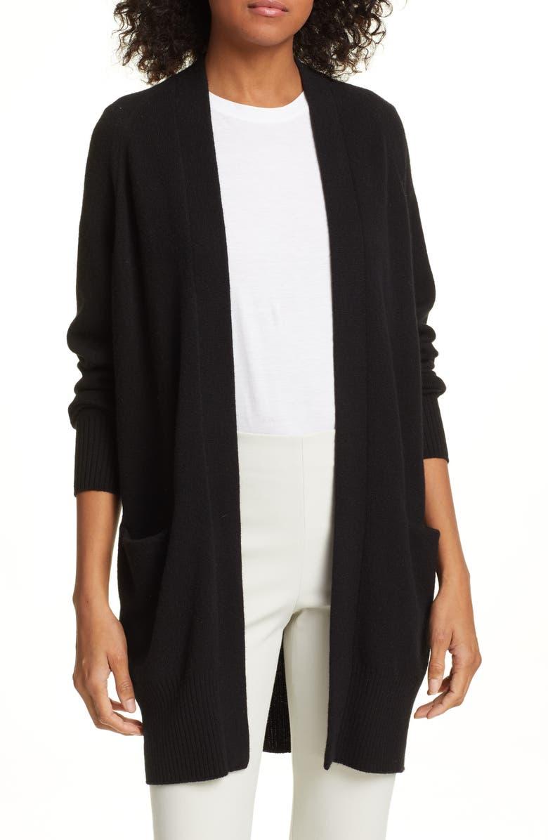 VINCE Cashmere Cardigan, Main, color, BLACK