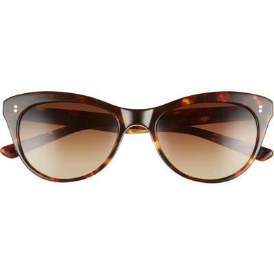 Salt. Hillier 55mm Polarized Cat Eye Sunglasses - Toasted Toffee