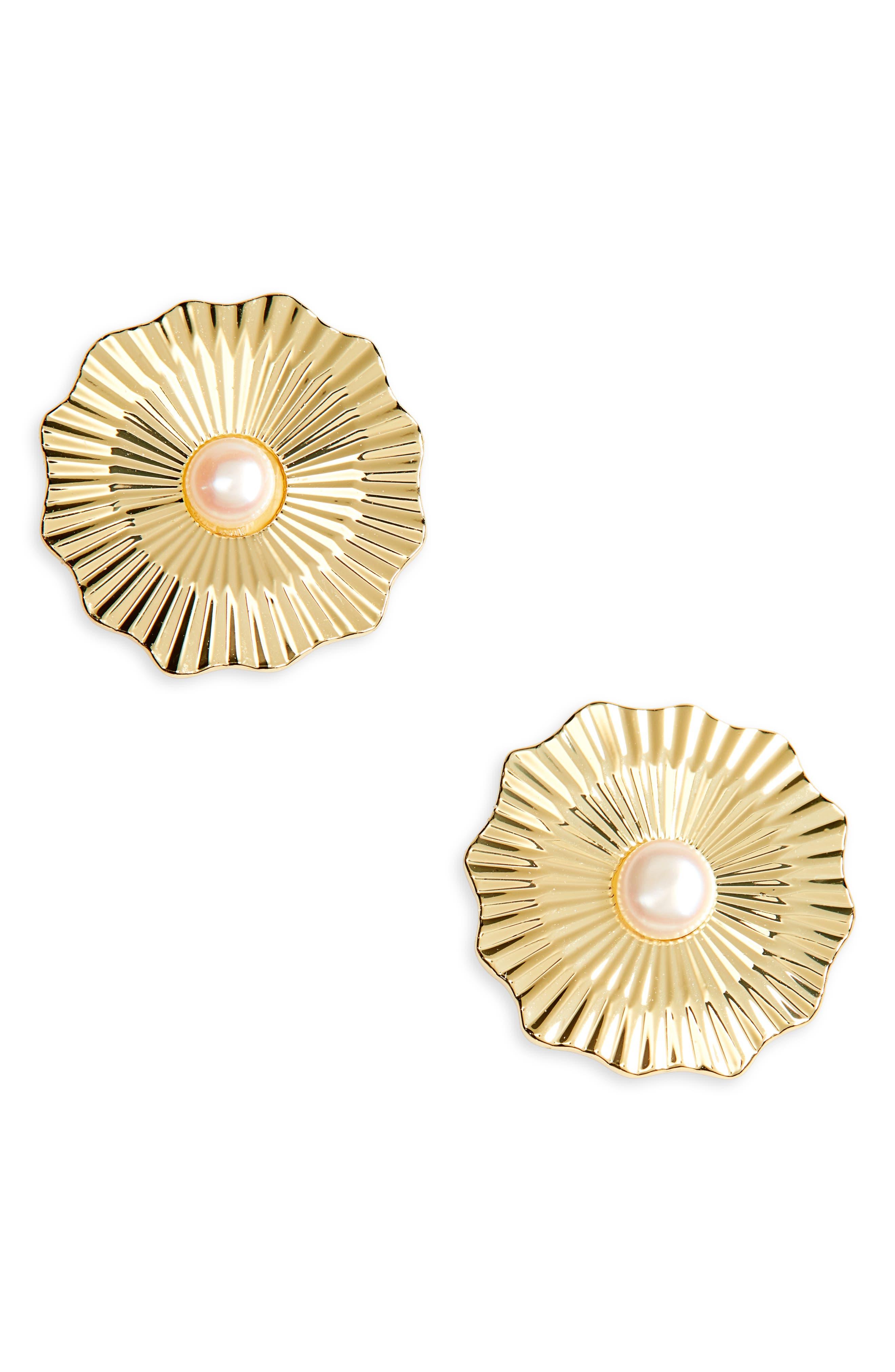 Alice Freshwater Pearl Stud Earrings