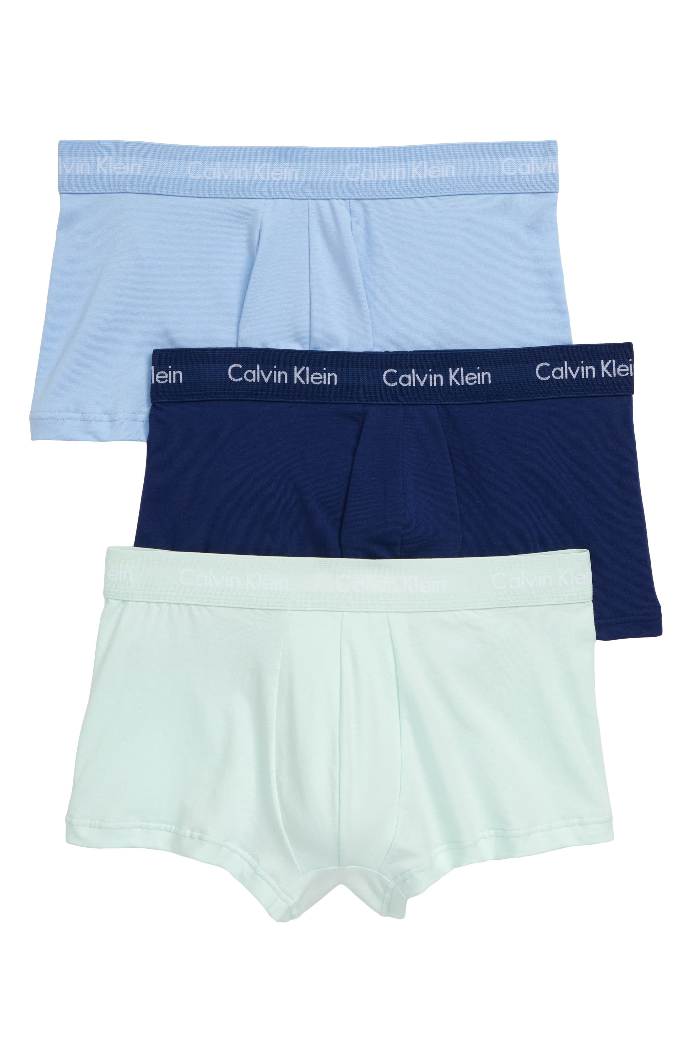 ,                             3-Pack Stretch Cotton Low Rise Trunks,                             Main thumbnail 20, color,                             406