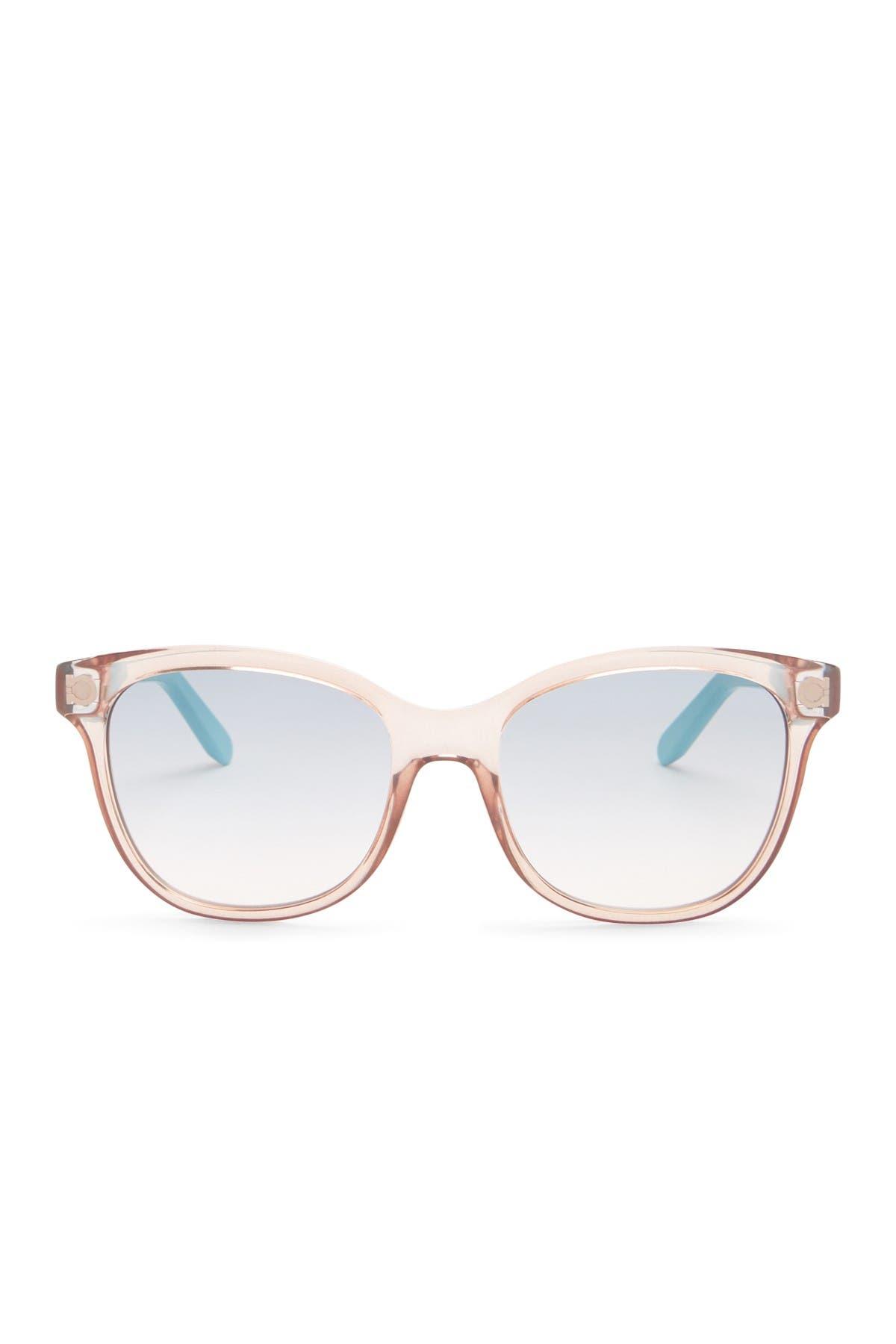 Image of Salvatore Ferragamo 55mm Plastic Cat Eye Sunglasses