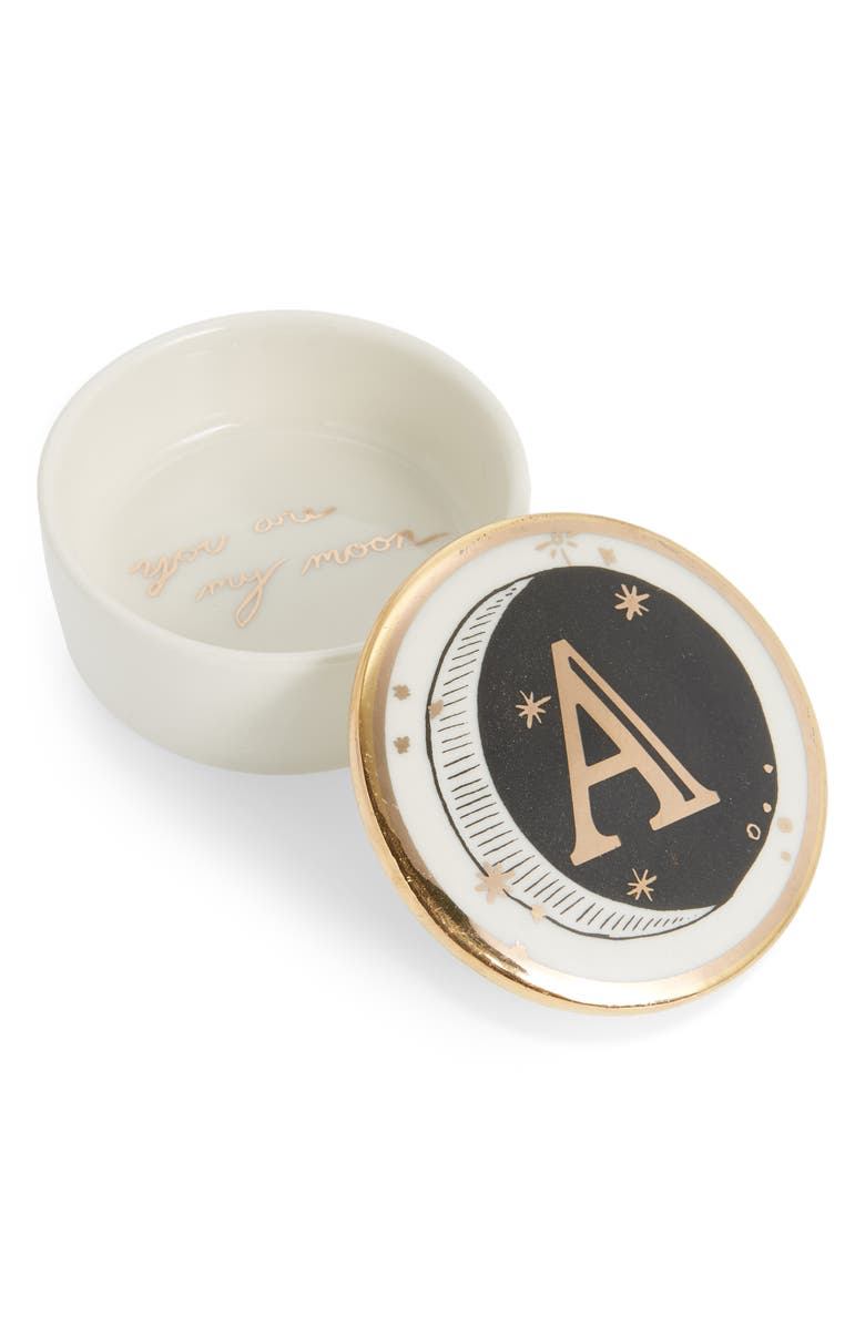 ANTHROPOLOGIE HOME Lyra Monogram Trinket Dish, Main, color, A