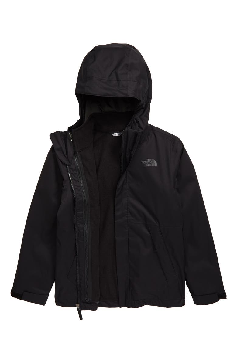 THE NORTH FACE Vortex TriClimate<sup>®</sup> Water Resistant & Wind Resistant Hooded Jacket, Main, color, 001