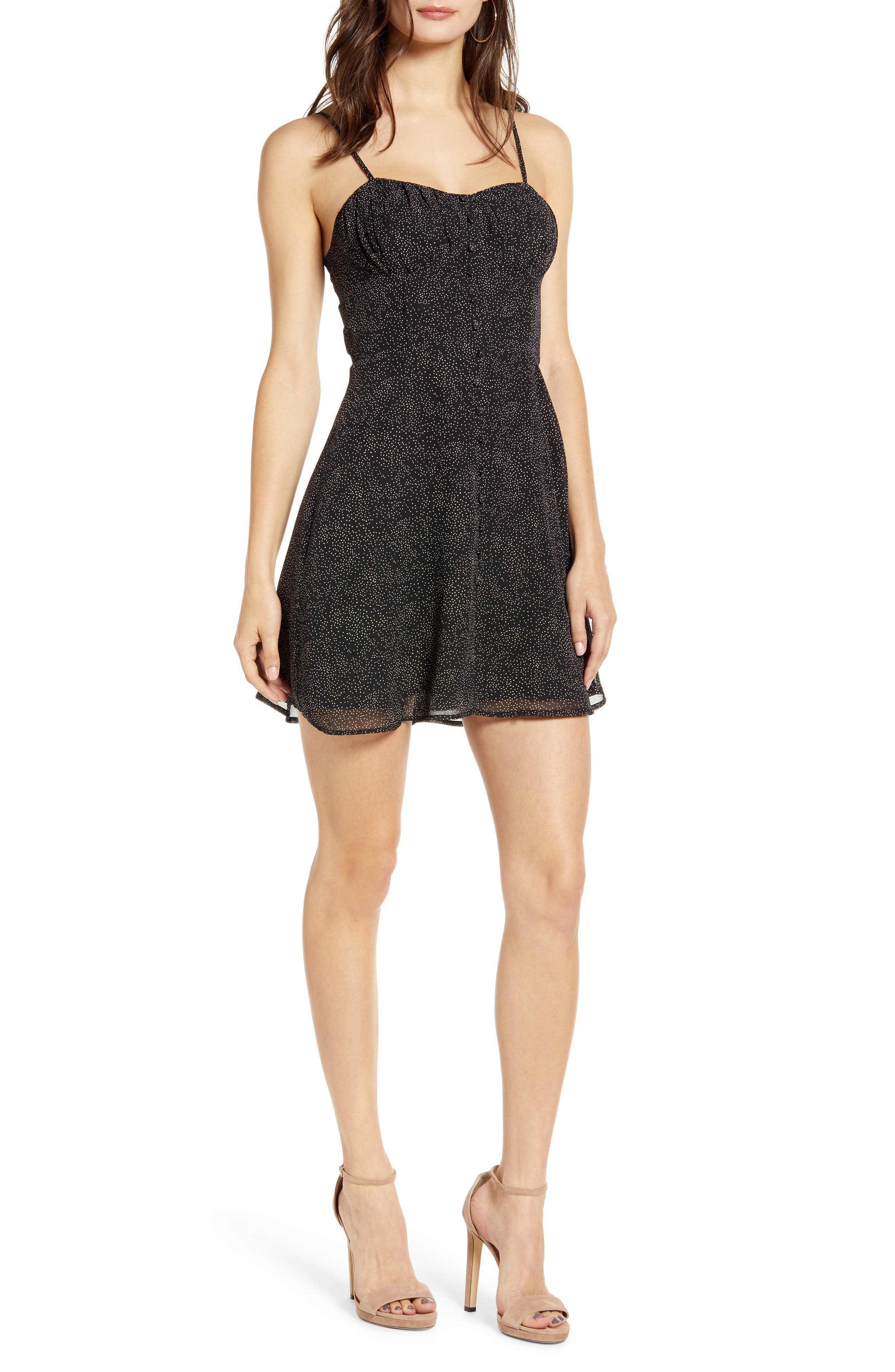 J.o.a. Sleeveless Minidress, Black