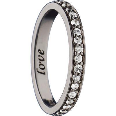 Monica Rich Kosann Love White Sapphire Poesy Ring Charm