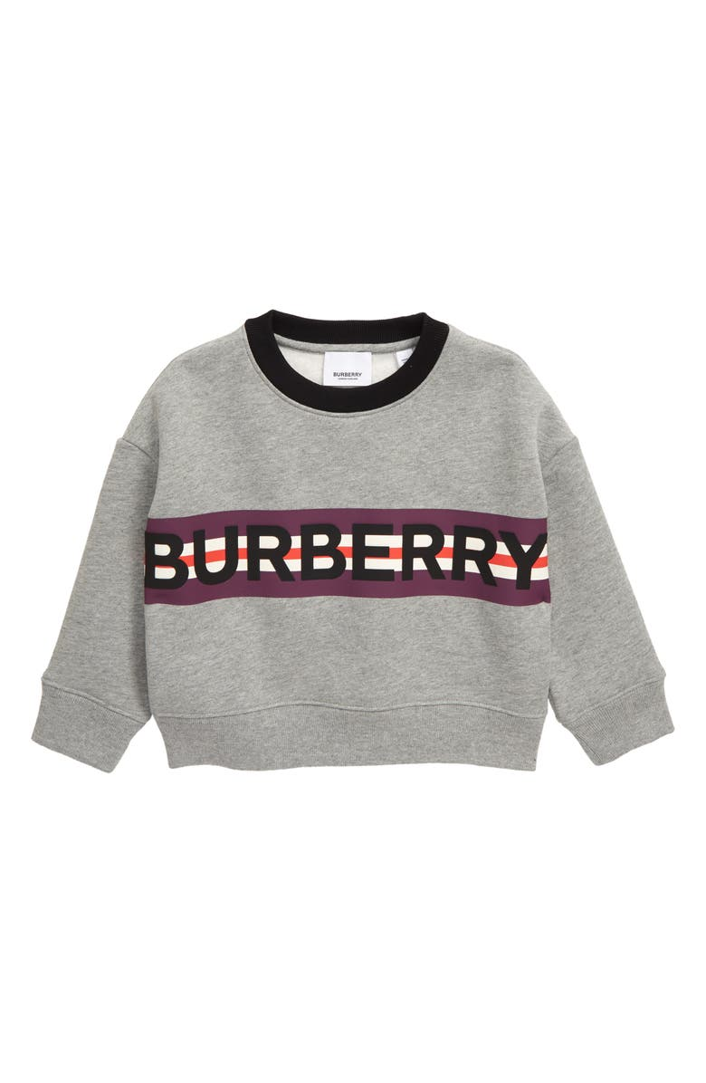 BURBERRY Marlon Sweatshirt, Main, color, GREY MELANGE