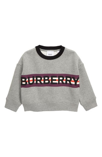 Burberry Boys' Marlon Logo Sweatshirt - Little Kid, Big Kid In Grey