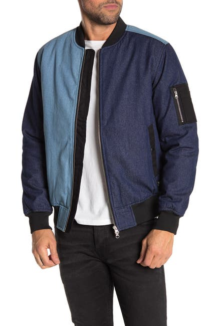 Image of WeSC Colorblock Denim Bomber Jacket