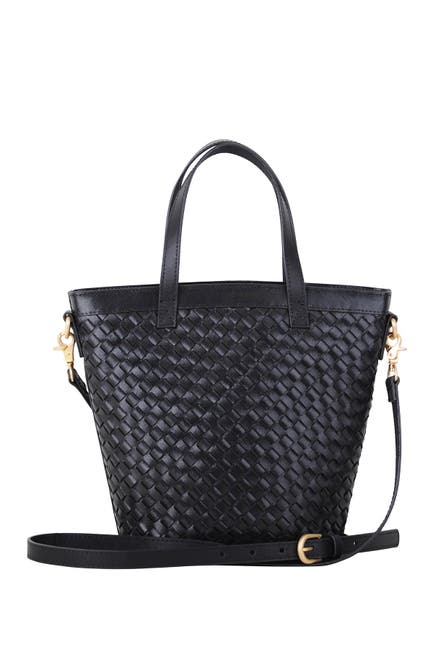 Image of Most Wanted USA Modified Carry All Essential Woven Leather Crossbody Bag
