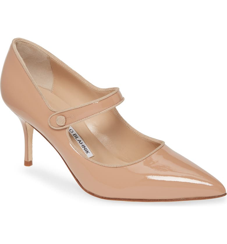 MANOLO BLAHNIK Campari Mary Jane Pump, Main, color, NATURAL