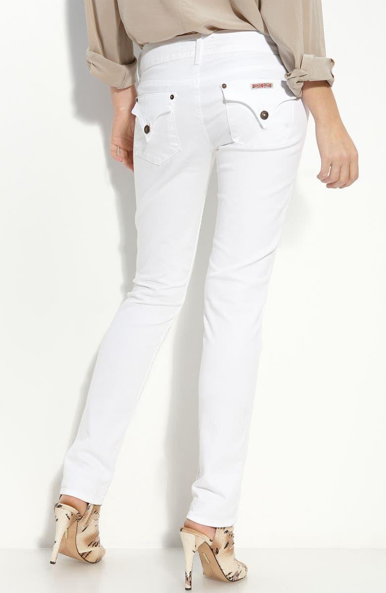 HUDSON JEANS Skinny Stretch Jeans, Main, color, 100