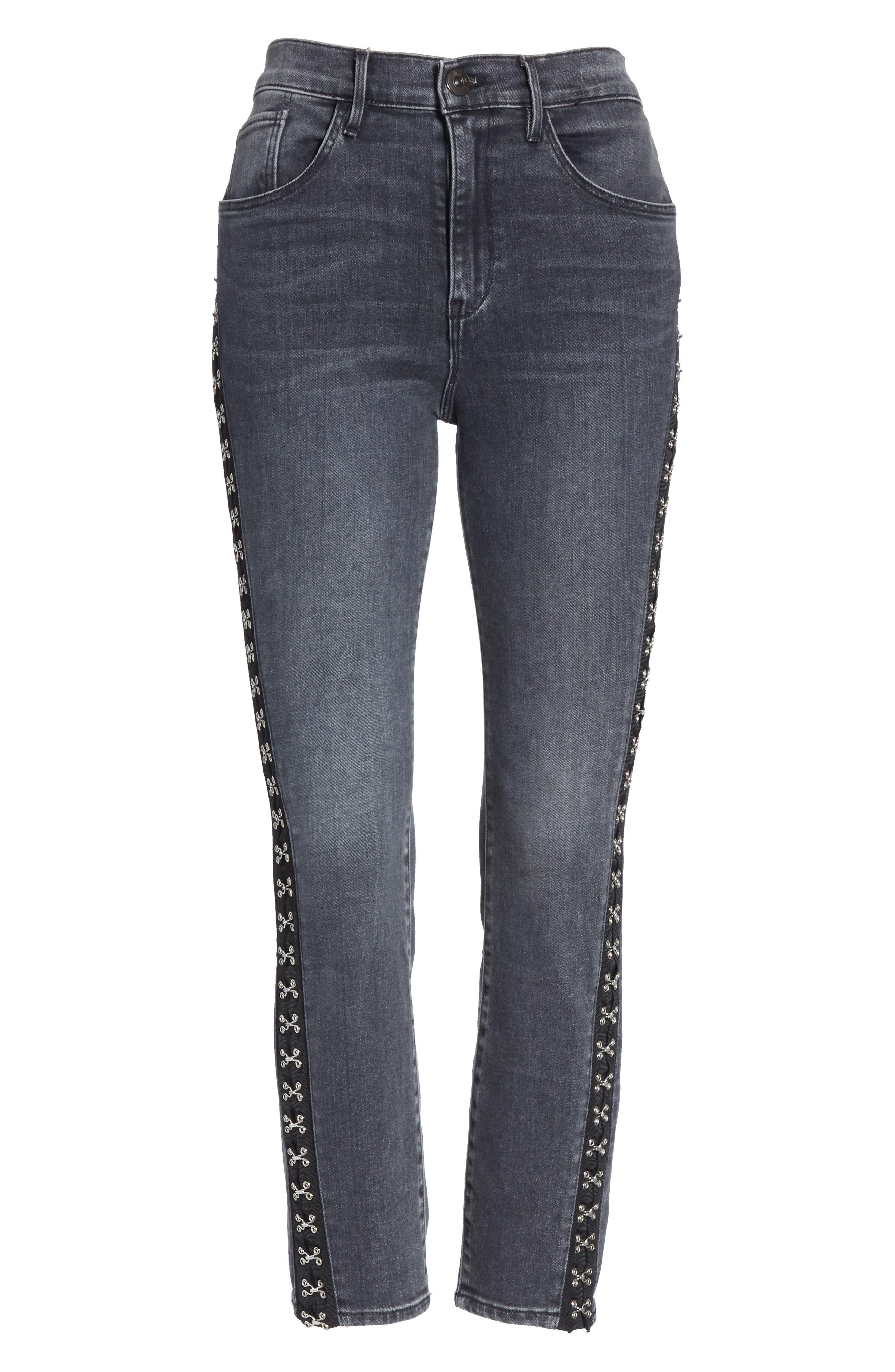 ,                             Corset Detail Ankle Skinny Jeans,                             Alternate thumbnail 7, color,                             EDDA