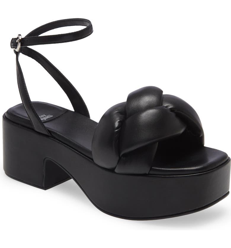 JEFFREY CAMPBELL Braided Platform Sandal, Main, color, BLACK