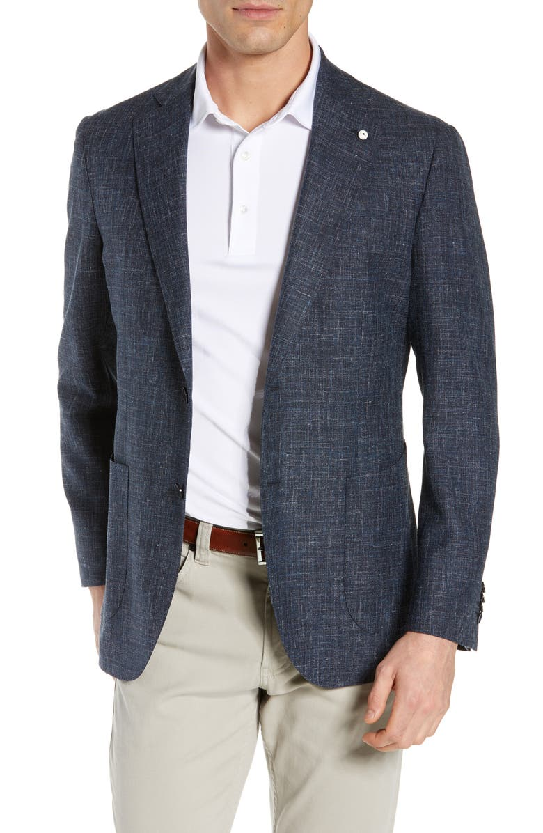 L.B.M. 1911 Trim Fit Plaid Linen Sport Coat, Main, color, 410