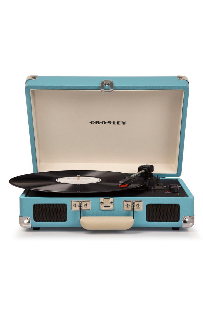 CROSLEY RADIO Cruiser Deluxe Turntable, Main, color, TURQUOISE
