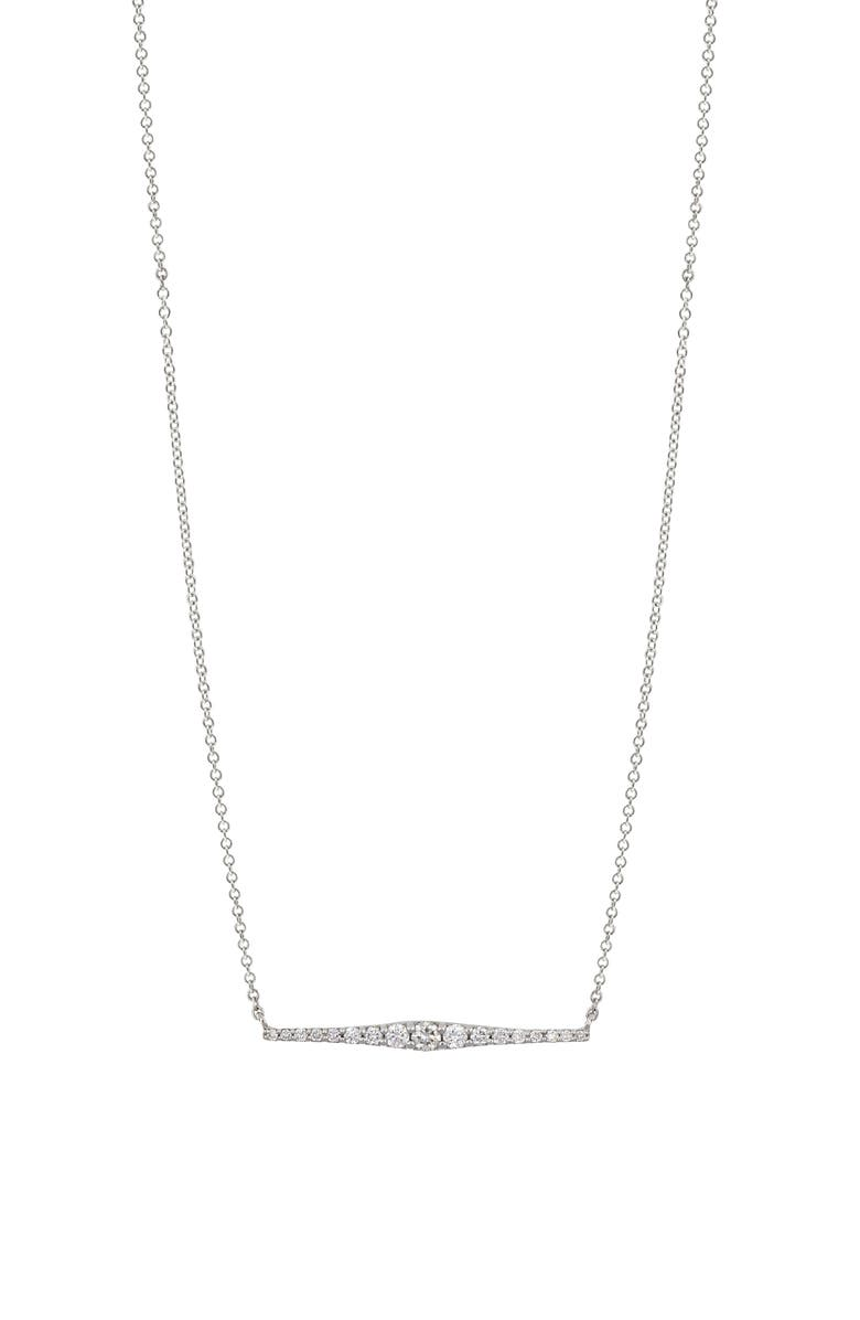 BONY LEVY Liora Graduated Diamond Bar Necklace, Main, color, 711