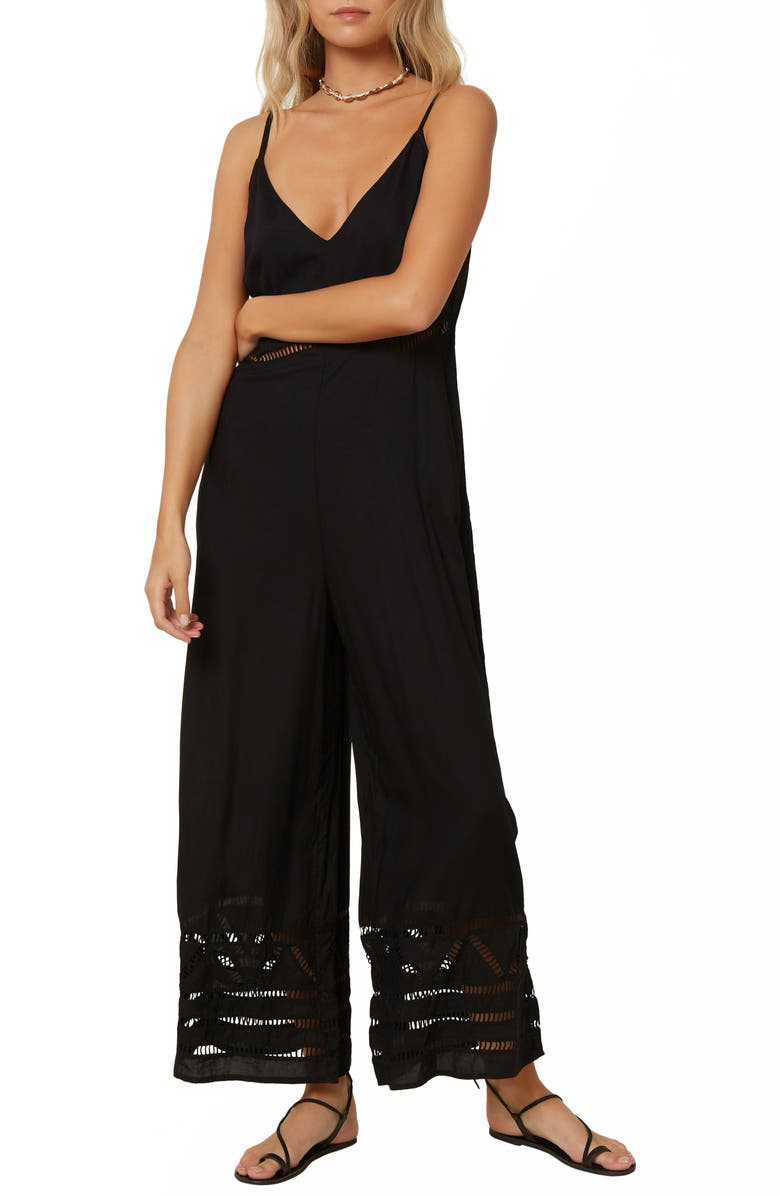 O'NEILL Mateo Wide Leg Jumpsuit, Main, color, 001