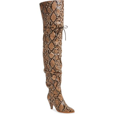 Jeffrey Campbell Go-Go-Girl 2 Thigh High Boot- Brown
