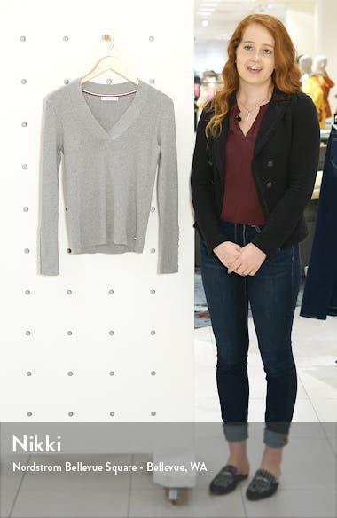 Rib V-Neck Sweater, sales video thumbnail
