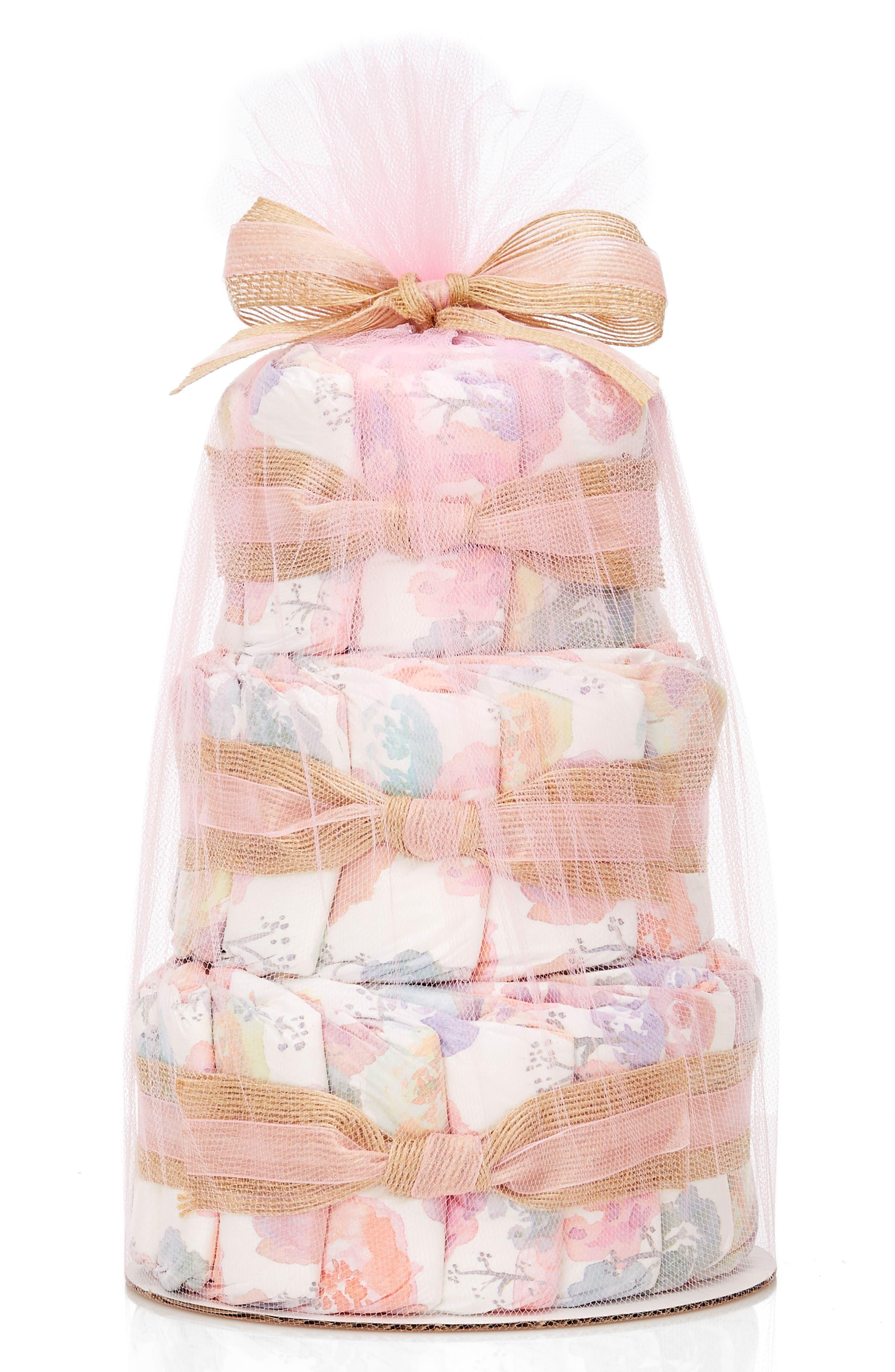 ,                             Mini Diaper Cake & Travel-Size Essentials Set,                             Main thumbnail 26, color,                             652