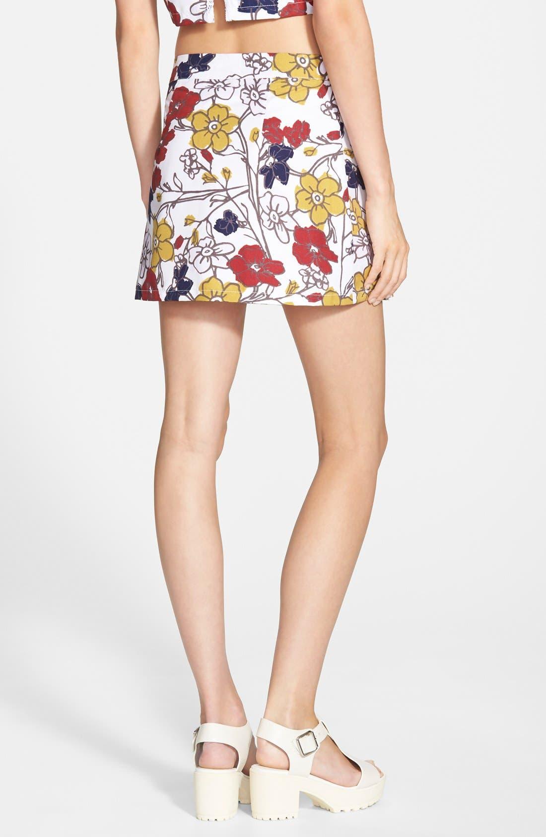 ,                             Floral Tennis Skirt,                             Alternate thumbnail 6, color,                             100