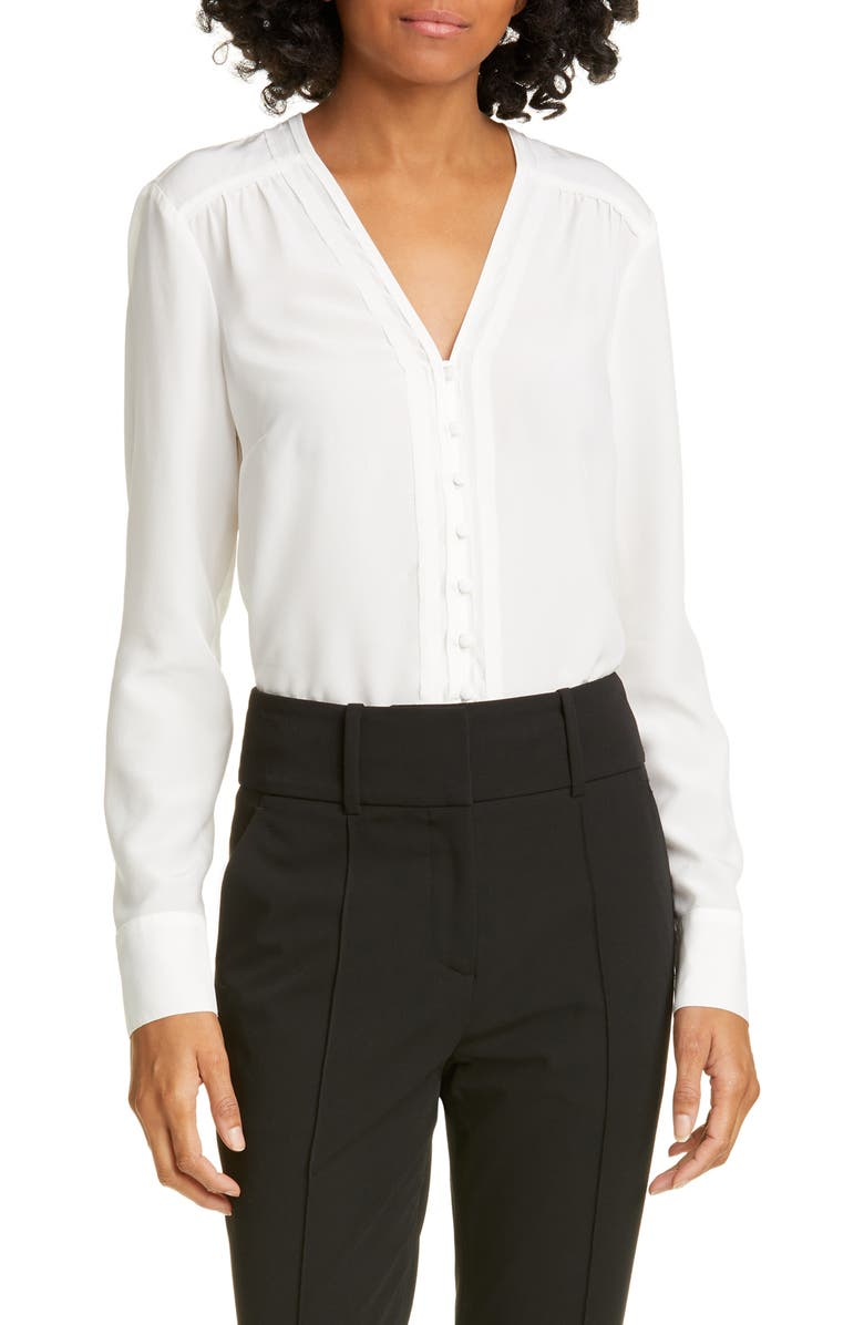 VERONICA BEARD Marella Silk Blouse, Main, color, IVORY