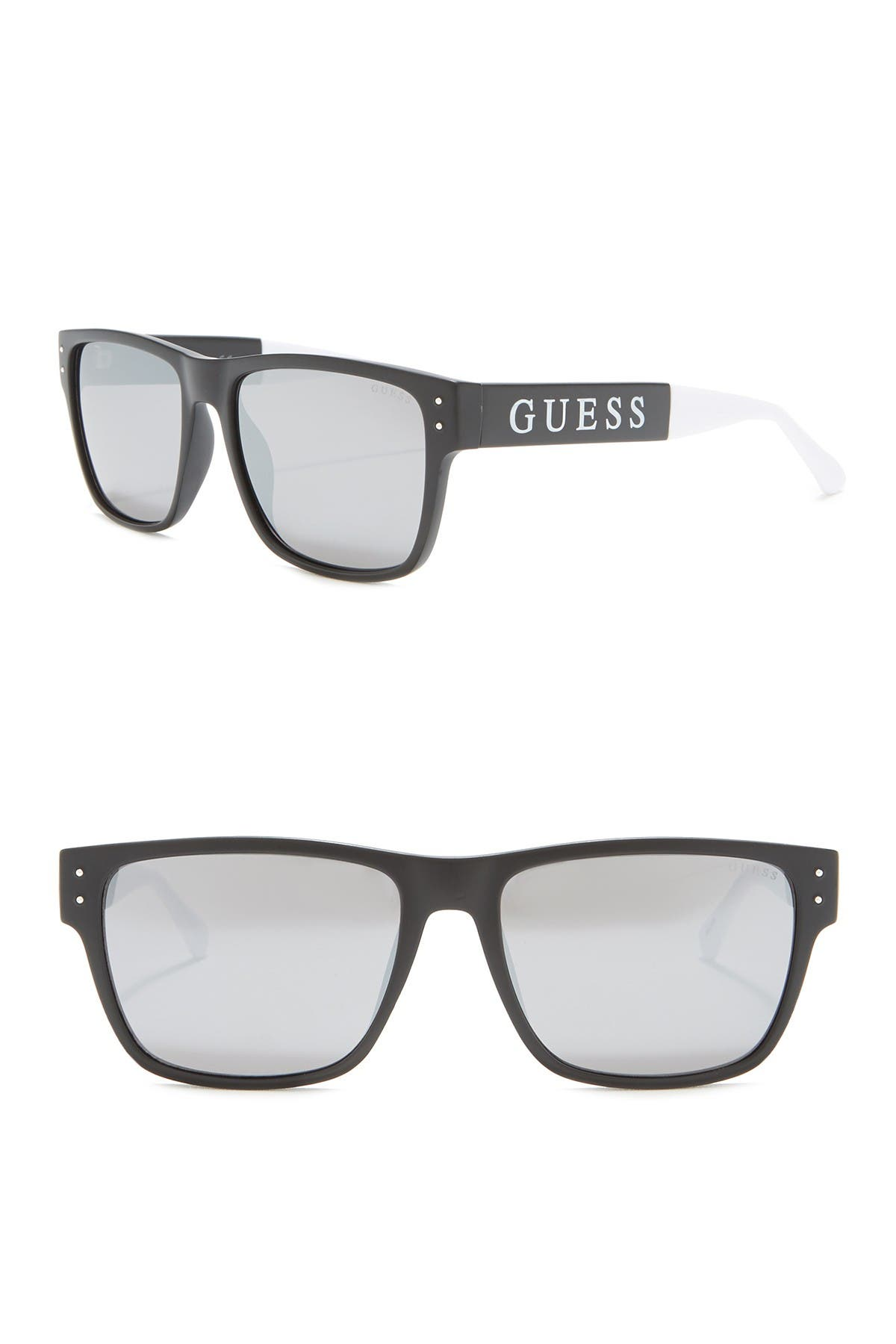 Image of GUESS 57mm Rectangle Sunglasses
