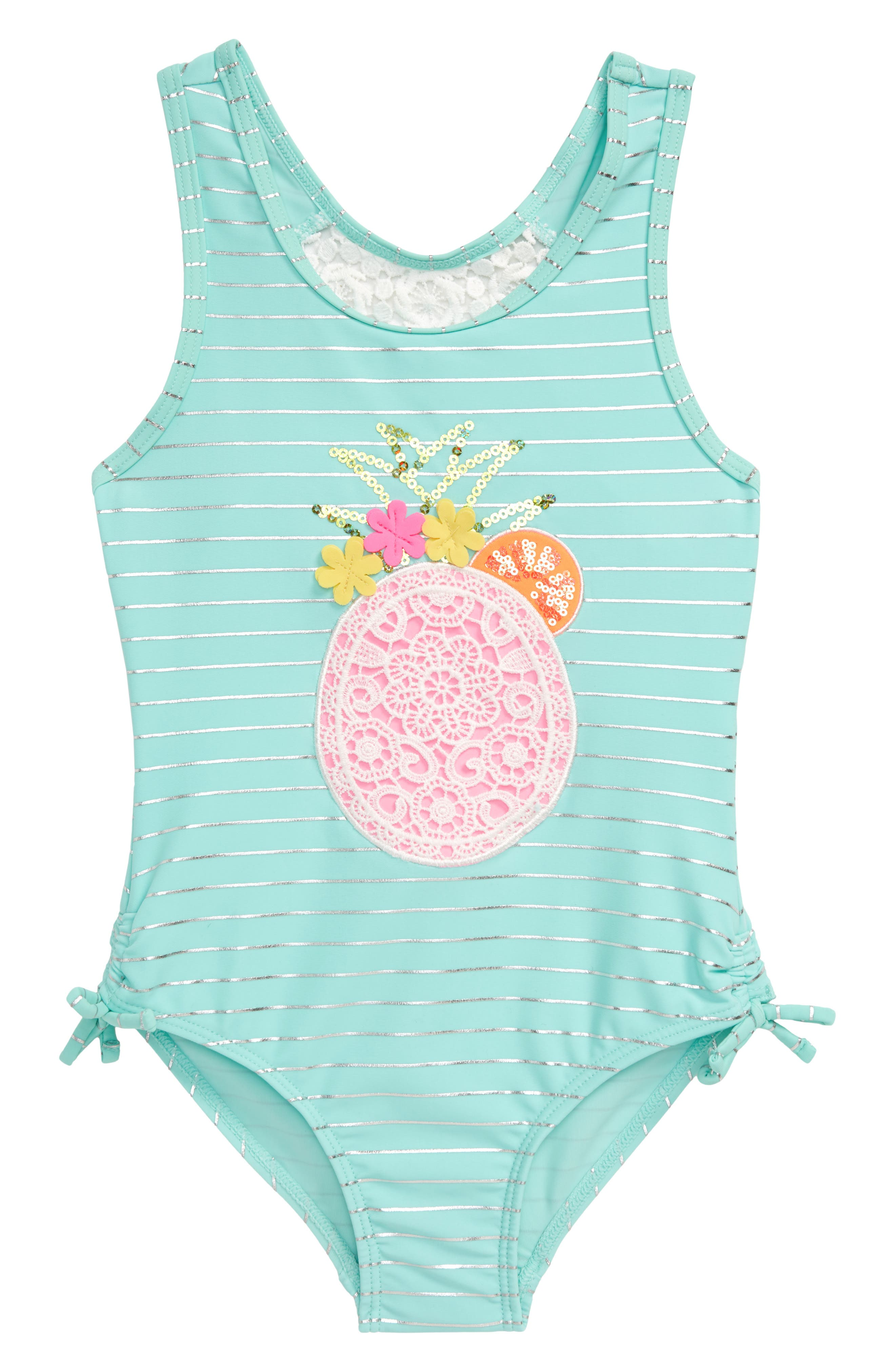 Image of Flapdoodles Pineapple One-Piece Swimsuit