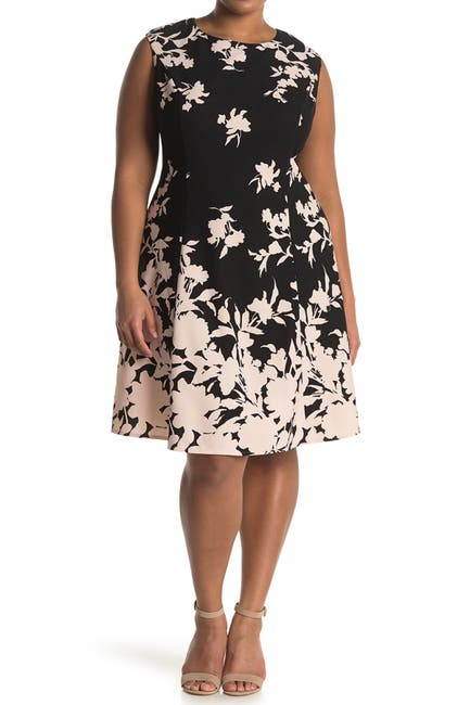 Image of London Times Floral Fit & Flare Dress