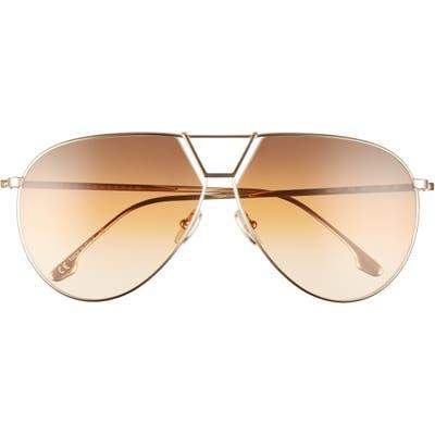 Victoria Beckham Oversize Aviator Sunglasses - Gold/ Brown