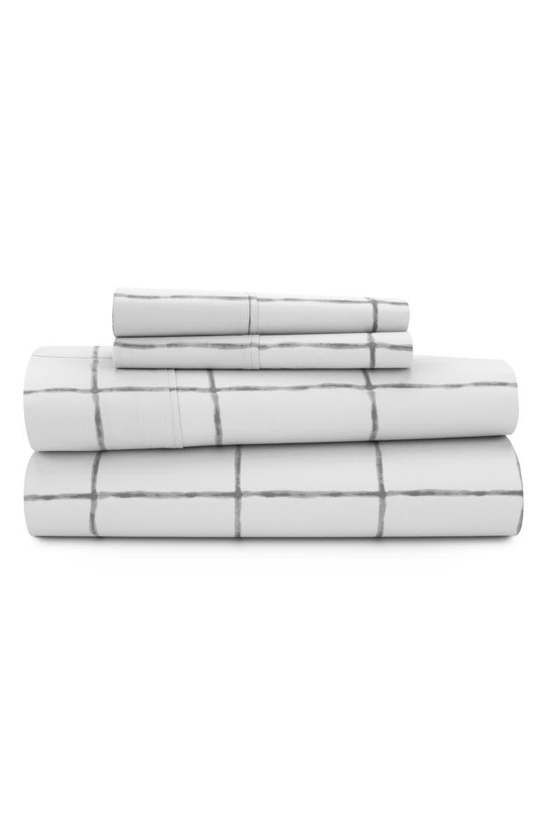 UGG<SUP>®</SUP> Whisper 200 Thread Count Plaid Sheet Set, Main, color, STONE