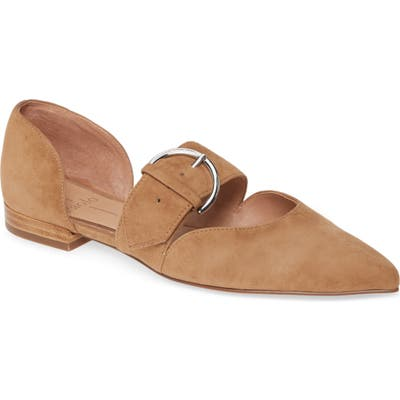 Linea Paolo Dean Pointy Toe Flat, Brown