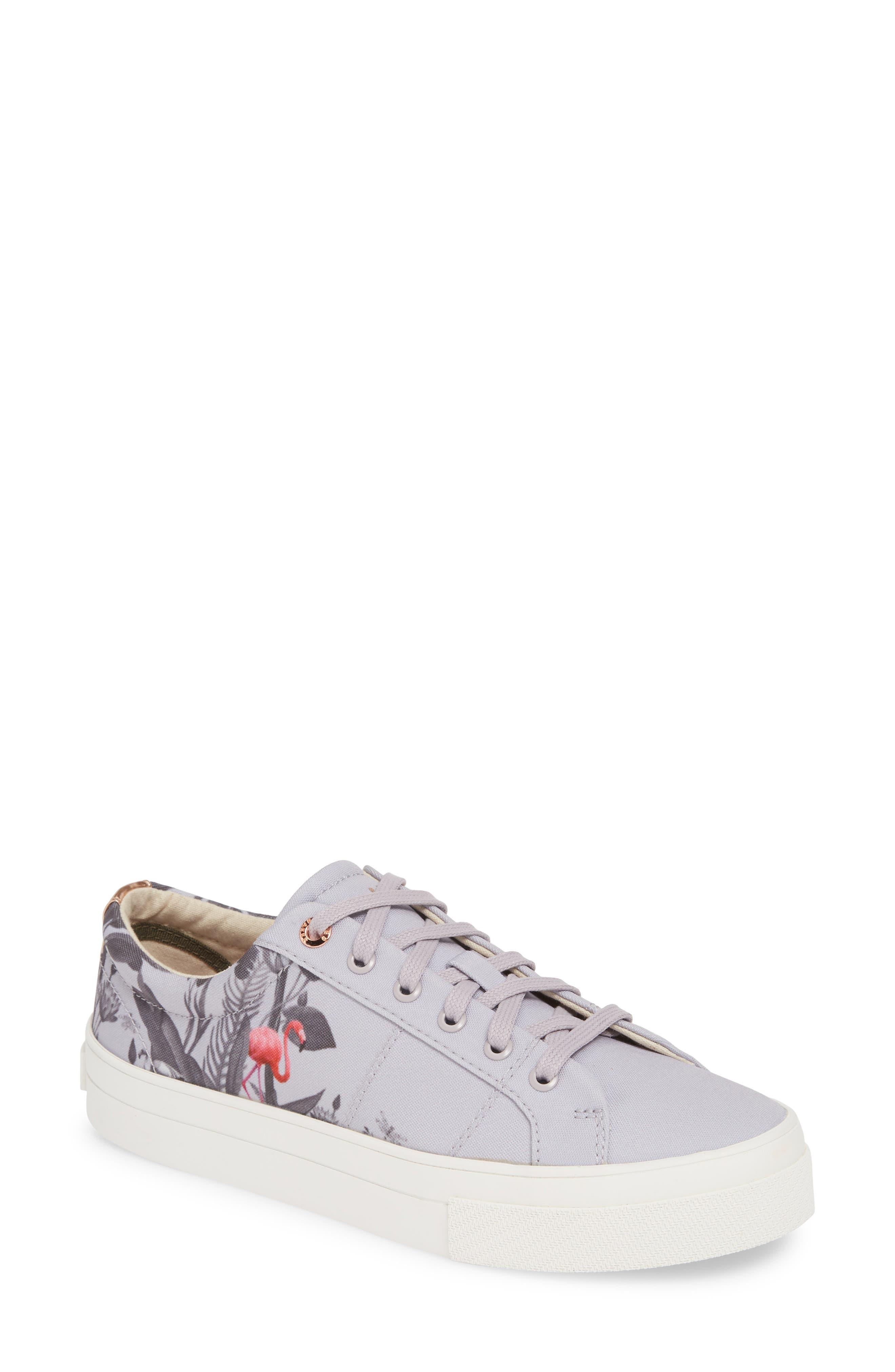 Ted Baker London Ephie Floral Print Platform Sneaker - Grey