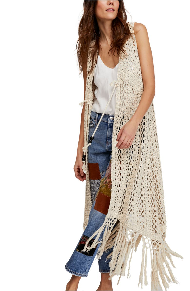 Suncatcher Crochet Duster Cardigan by Free People