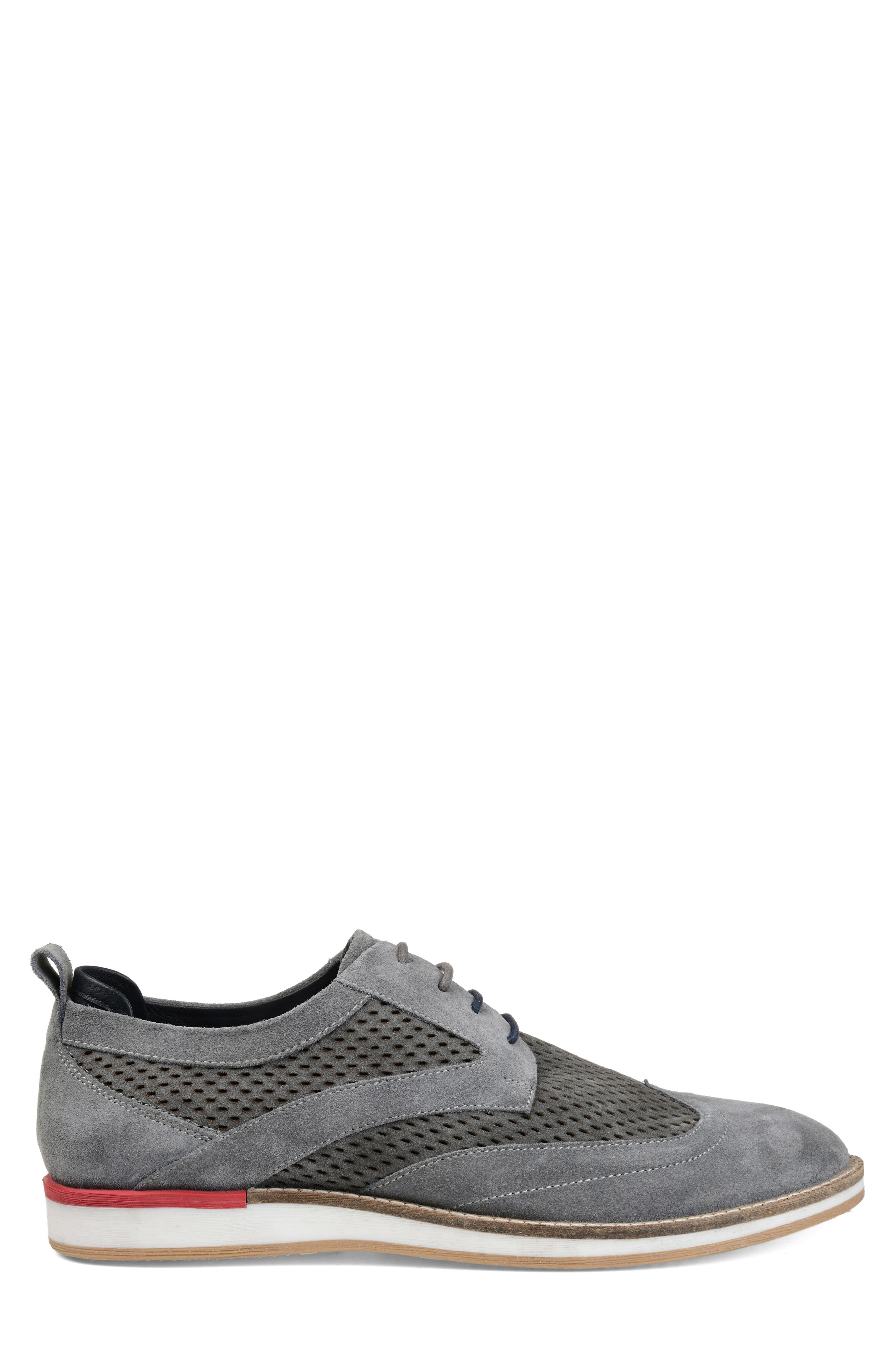 ,                             Jett Perforated Wingtip,                             Alternate thumbnail 3, color,                             GREY SUEDE