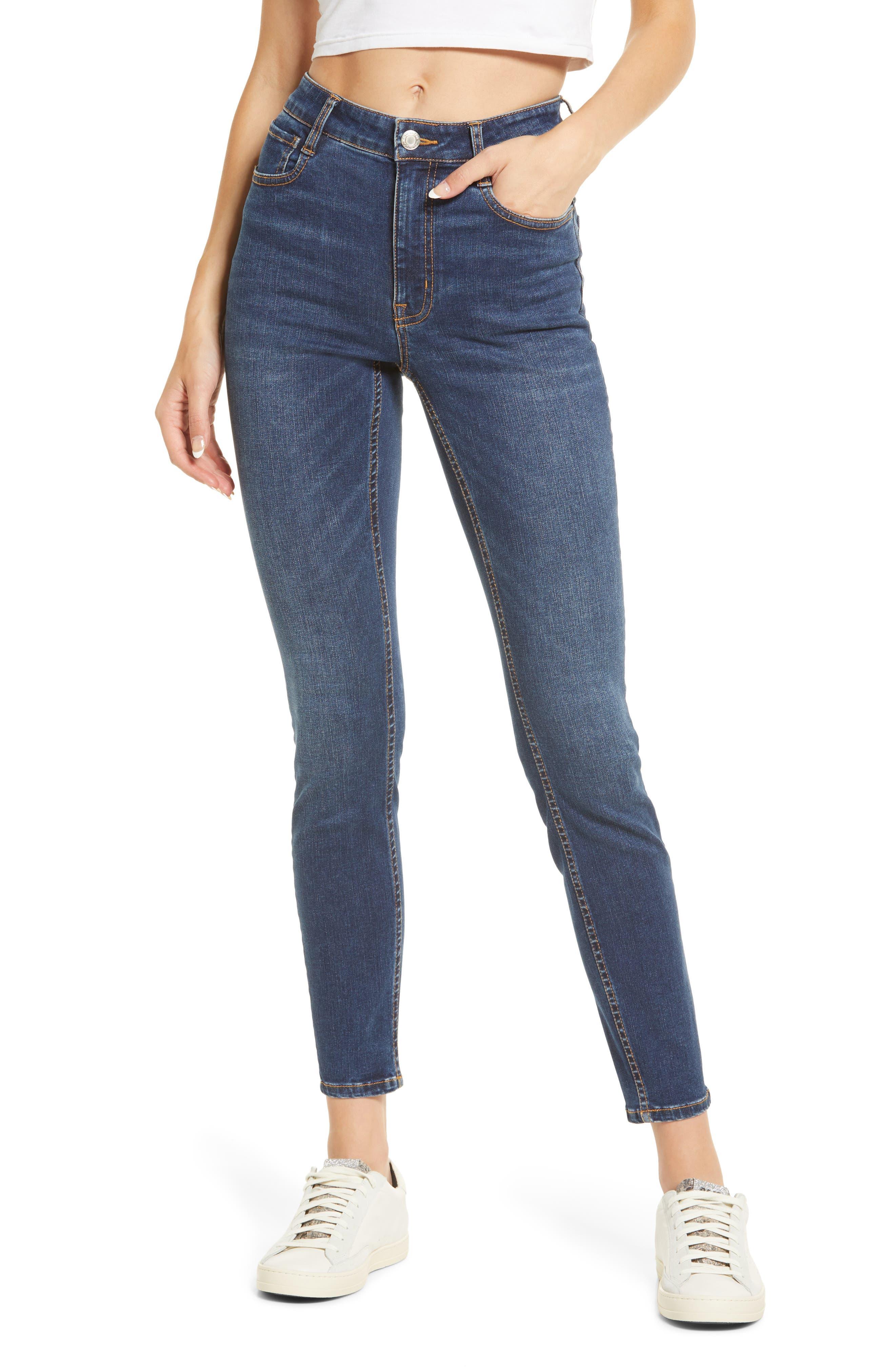 Debbie High Waist Ankle Skinny Jeans