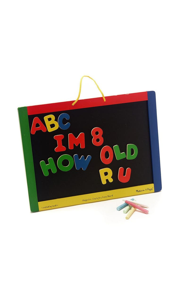 MELISSA AND DOUG Magnetic Chalk & Dry Erase Board, Main, color, MULTI
