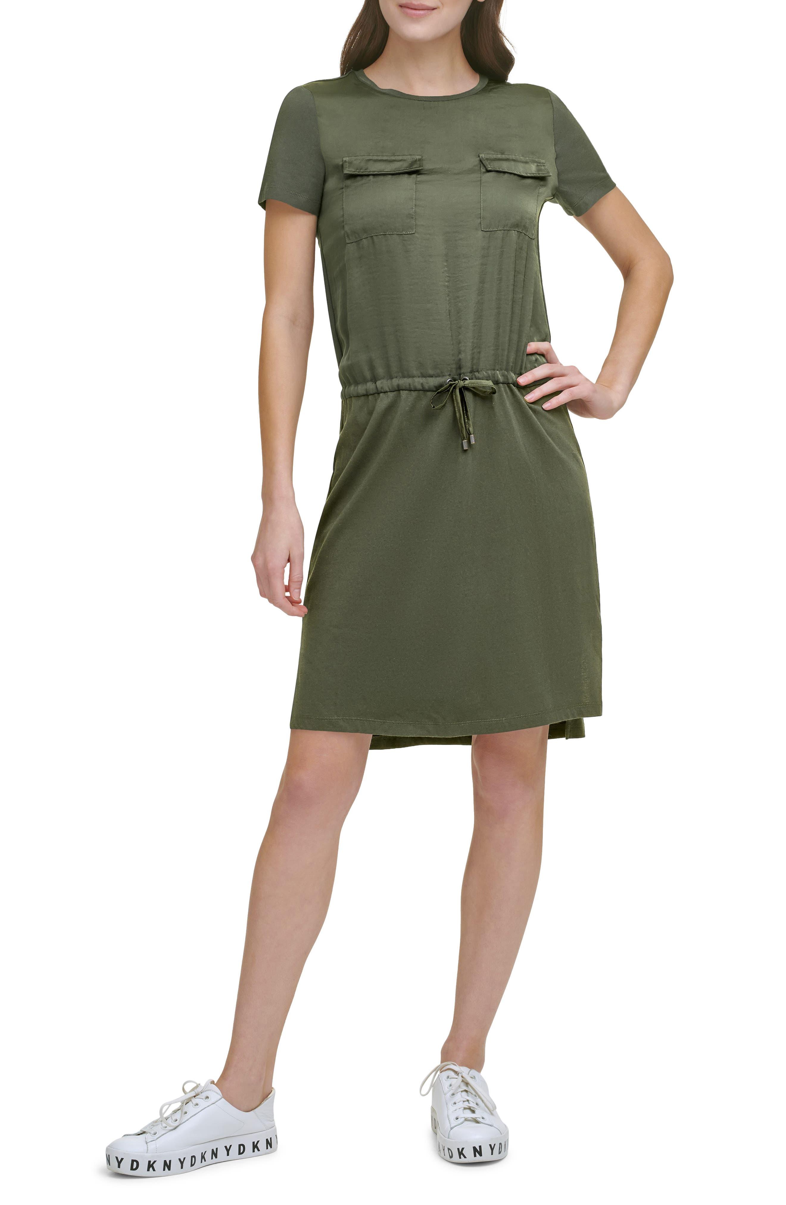 Mixed Media T-Shirt Dress