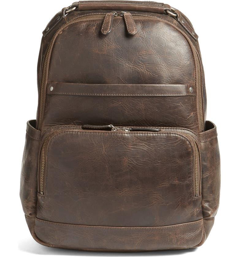 FRYE 'Logan' Leather Backpack, Main, color, 209